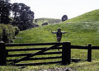 案山子の写真。ニュージーランド。