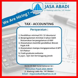 Tax - Accounting di Konsultan Pajak Jasa Abadi