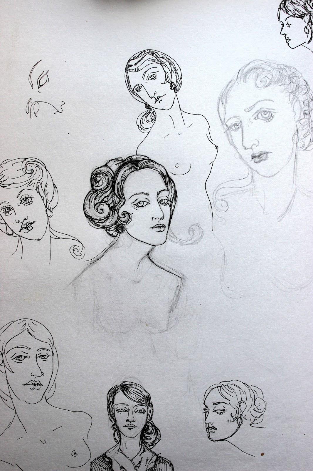 Sketchpad Notebook Sketch Drawing Pencil Ladies Nude