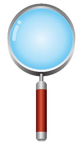 拡大鏡(虫眼鏡)のイラスト