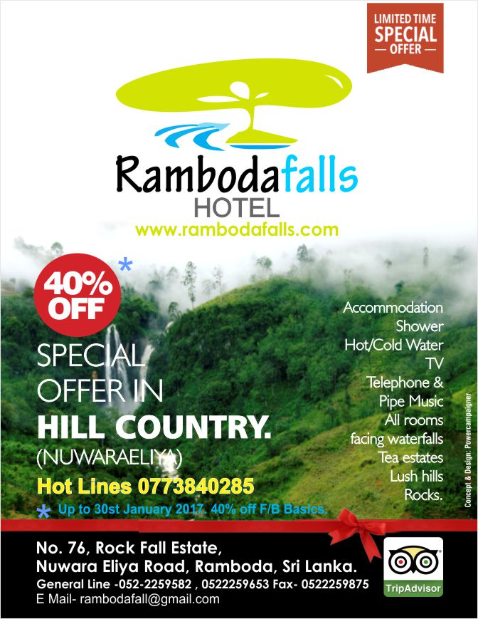 Visit Hill Country and experience the nature @ Ramboda Falls Hotel | 40% OFF.