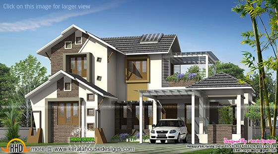 Modern double storied house