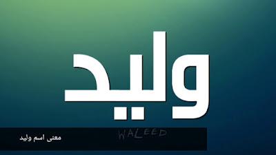 معنى اسم وليد في اللغة العربية