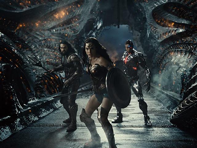 Jason Momoa, Gal Gadot y Ray Fisher. Imagen de Warner Bros.
