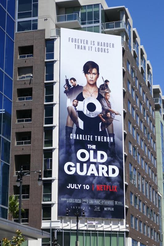 Old Guard movie billboard