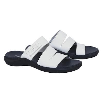 Sandal Kulit Pria Putih Catenzo TU 040