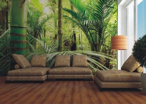 metsä tapetti Metsä Taustakuva valokuvatapetti metsä viidakko taustakuva Bamboo Forest sademetsä trooppinen bambupuut valokuvatapetti 3d