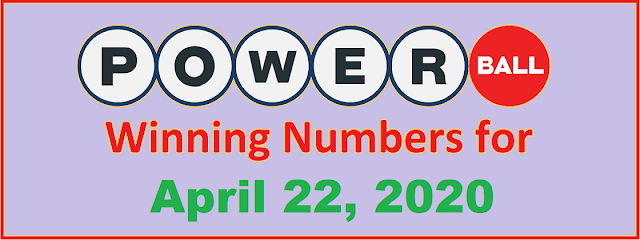 PowerBall Winning Numbers for Wednesday, April 22, 2020