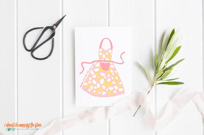 Cute Mother's Day Card with Apron