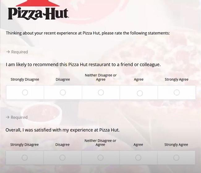 tellpizzahut.com pizza hut customer satisfaction survey