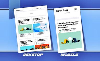 blogger template gratis fitrah press