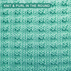 Knitting Rib Stitch In The Round : Double Broken Rib - knitting in the round Knit - Purl stitches