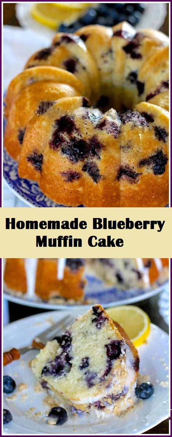 Homemade Blueberry Muffin Cake