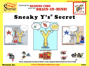 Secret Stories® Phonics Sneaky Y's Secret Reader and Guided Reading Puppet Pointer