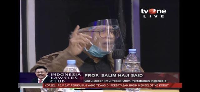 Di ILC tvOne, Prof Salim Said Bela Gatot Nurmantyo soal Kebangkitan PKI