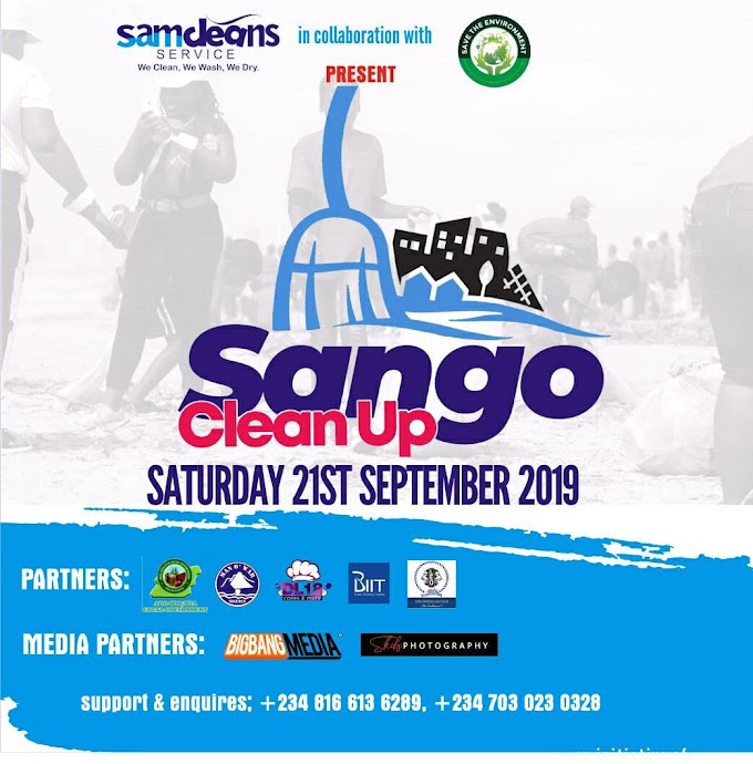 SANGO CLEAN UP DAY ( September 21st )  Powered by SamCleans Service