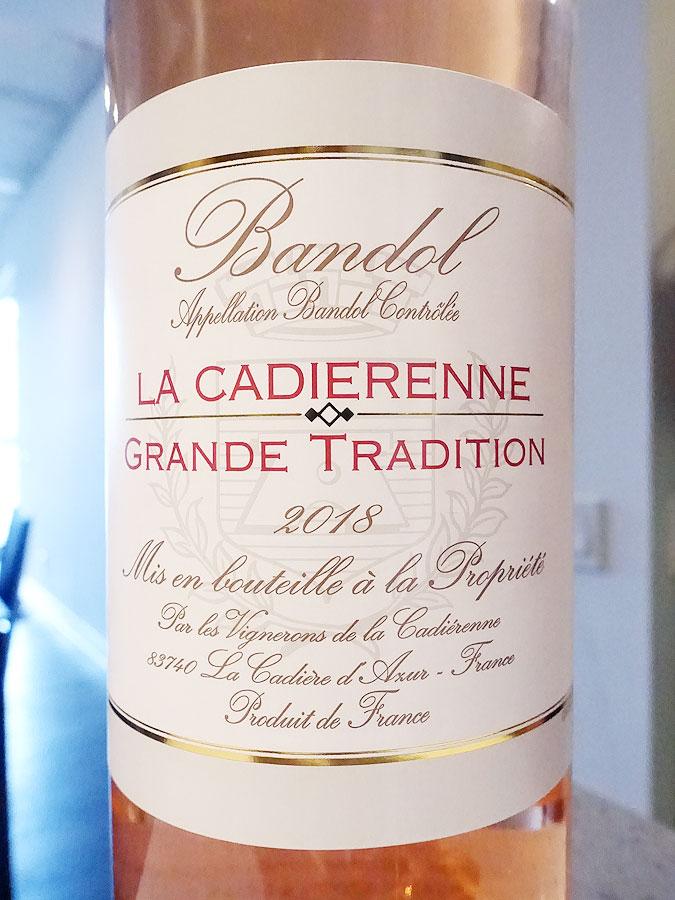 La Cadiérenne Cuvée Grande Tradition Bandol Rosé 2018 (91 pts)