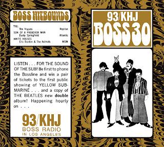 KHJ Boss 30 No. 175 - The Beatles Yellow Submarine