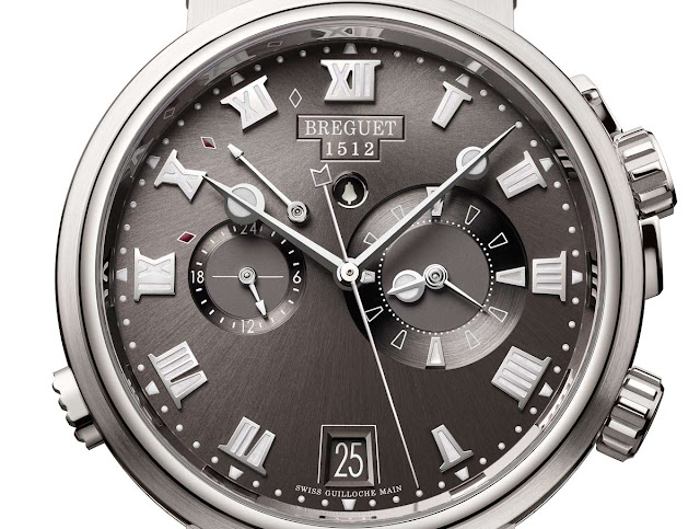 The dial of the Breguet Marine Alarme Musicale 5547