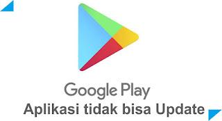 Aplikasi tidak bisa di update Play Store