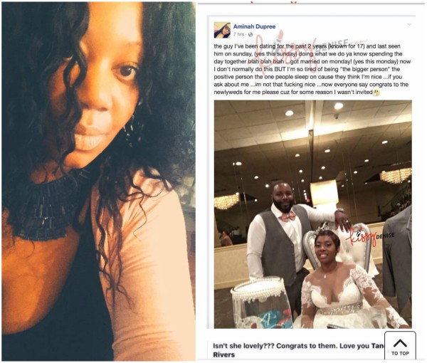 This lady's boyfriend of 2 years who was with her on Sunday, married another today, Monday (photos)