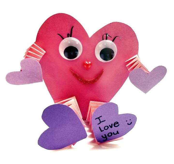 valentines heart treat holder