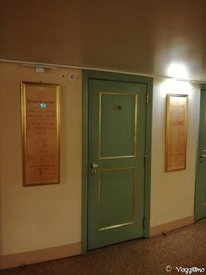 Porta di accesso ad uno dei palchi del Teatro la Fenice