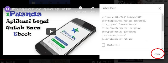 Cara Embed Video Youtube Dalam Artikel Blog