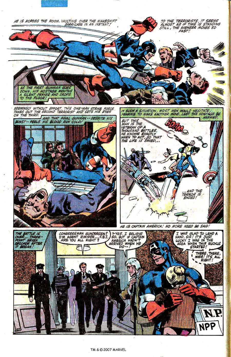 Captain America #250 marvel 1980s bronze age comic book page art by John Byrne