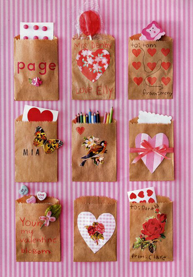 Fort Field Paper Bag Valentines