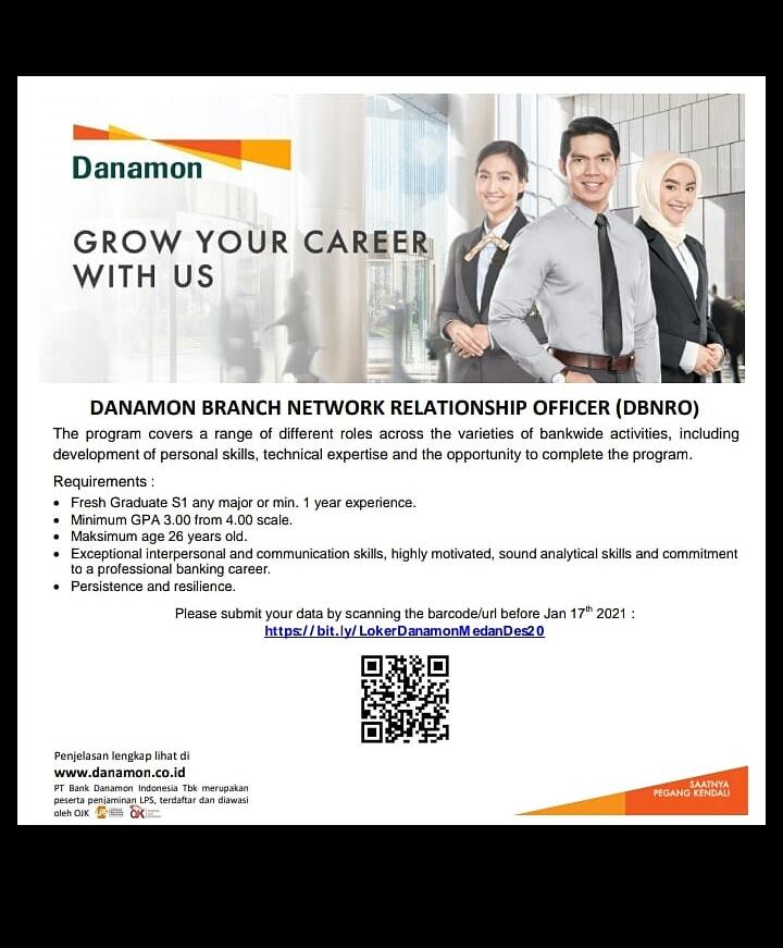 Lowongan Kerja Terbaru Januari 2021 di PT Bank Danamon ...