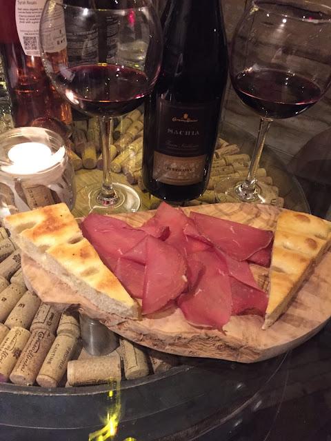 Veeno Selezione wine tasting Sachia Perricone and bresaola