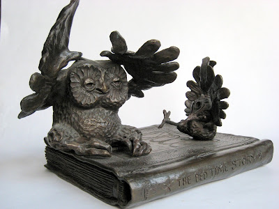 Bronze: Bed Time Stories. Artist: William Girard