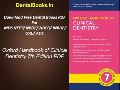 Oxford Handbook of Clinical Dentistry 7th Edition PDF