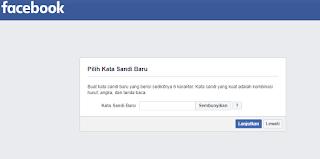 Cara membuat kata sandi baru facebook