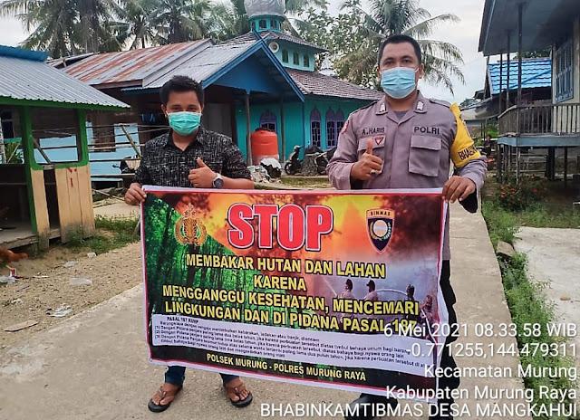 Cegah Karhutla Polsek Murung Laksanakan Sosialisasi Door to Door