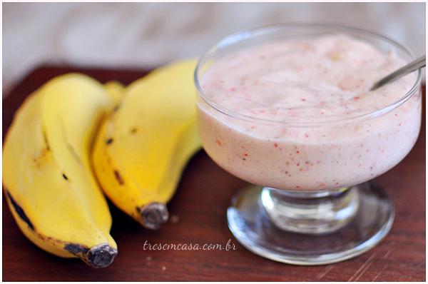 receita de sorvete de banana congelada
