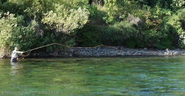 Pesca, rio correntoso, Angostura