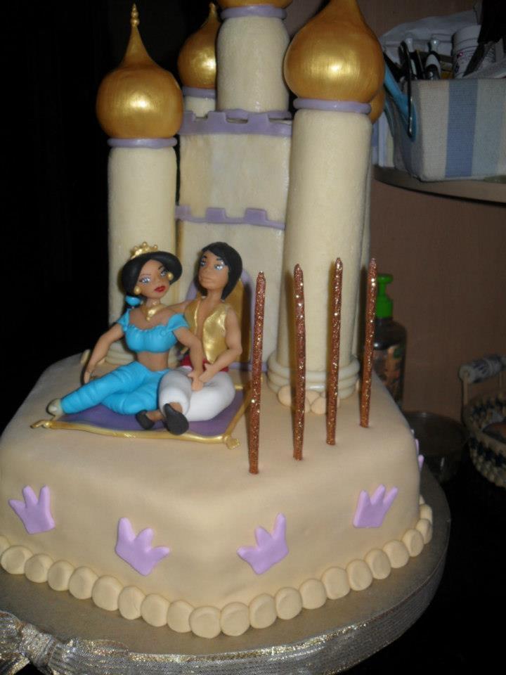 Modelados en Porcelana Fria Torta de Aladin y Jazmn