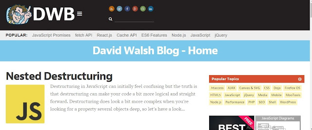 موقع david walsh blog لتعلم البرمجة