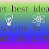 How to get new ideas to write blog posts