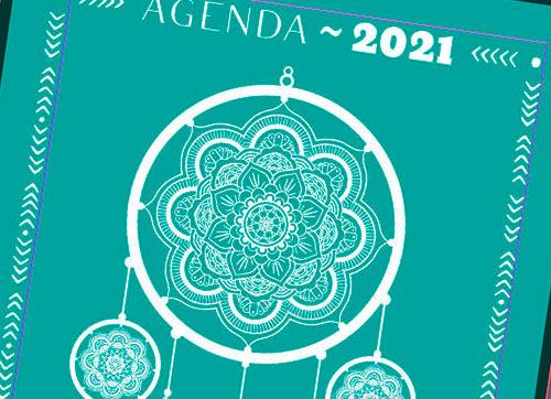 Agenda semanal 2021 para editar gratis