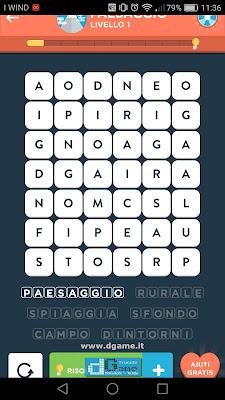 WordBrain 2 soluzioni: Categoria Paesaggio (6X7) Livello 1