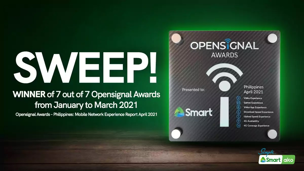 Smart sweep Q1 Opensignal Awards