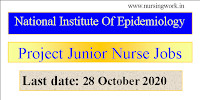 National Institute Of Epidemiology Project Junior Nurses Recruitment