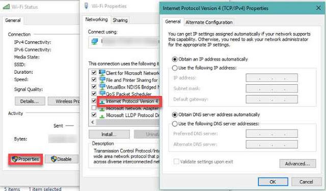 Windows IP Settings