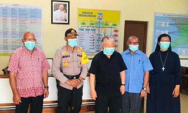 Untung Sangaji Jalin Silaturahmi Dengan Keuskupan Agung Merauke