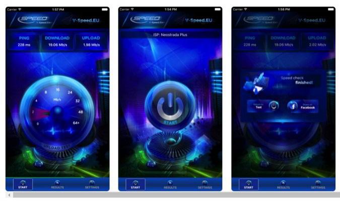 Aplikasi Internet Speed Test Terbaik tuk iOS - V-Speed