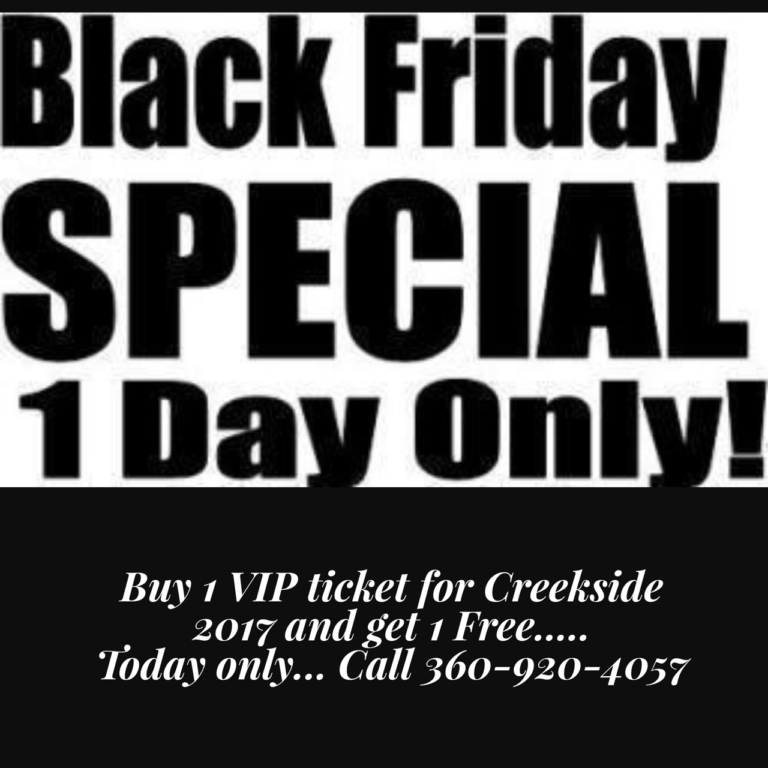 creekside gospel music convention one day only black friday creekside special. Black Bedroom Furniture Sets. Home Design Ideas