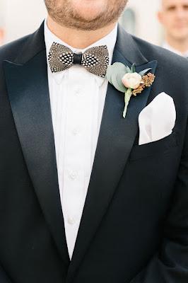 groom tux with bowtie